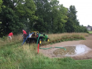 The storms left the course in a rough state and eventually the third round had to be canceled.